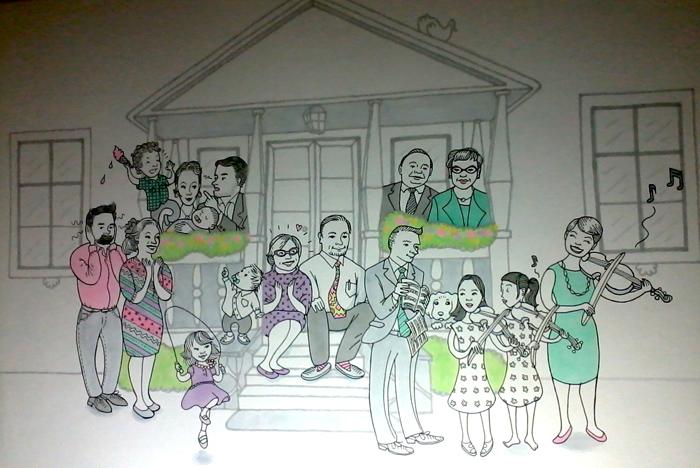 karikatyyri perhe