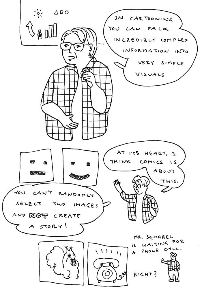 Scott McCloud kansainvälinen sarjakuvaseminaari