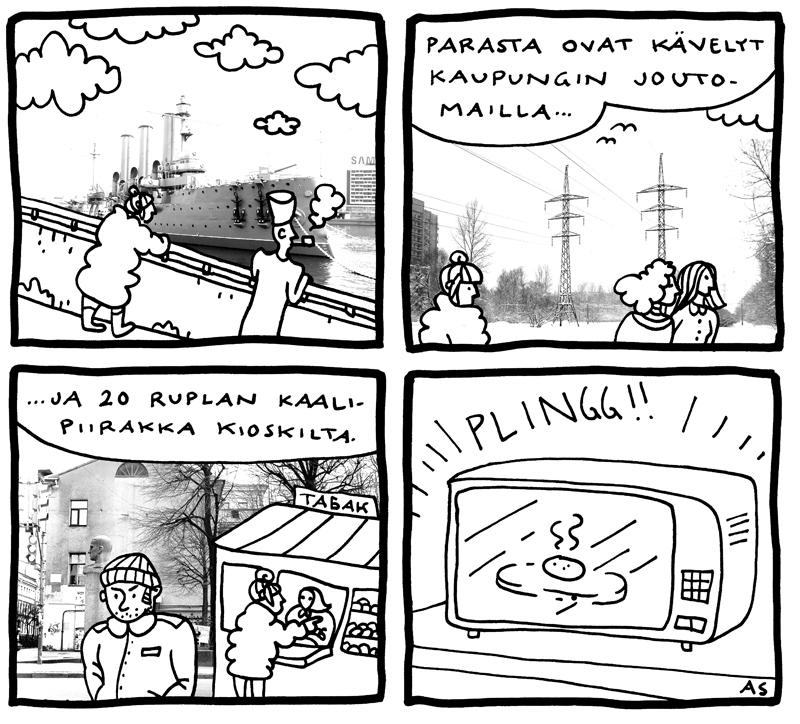 aino sutinen pietari sarjakuva