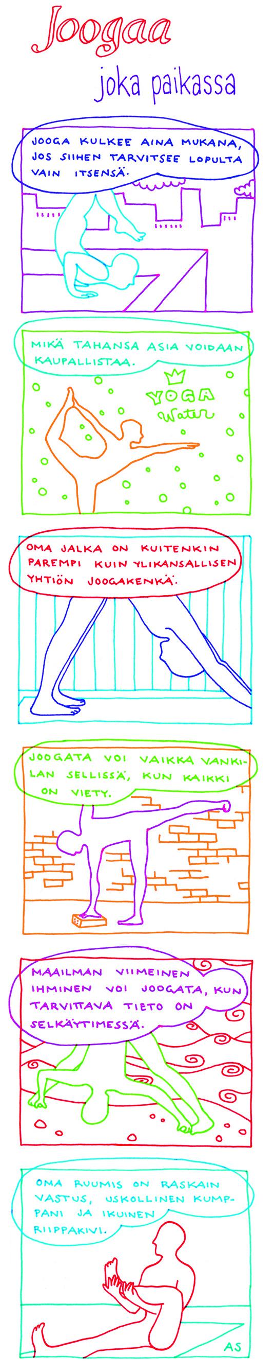jooga sarjakuva aino sutinen ananda