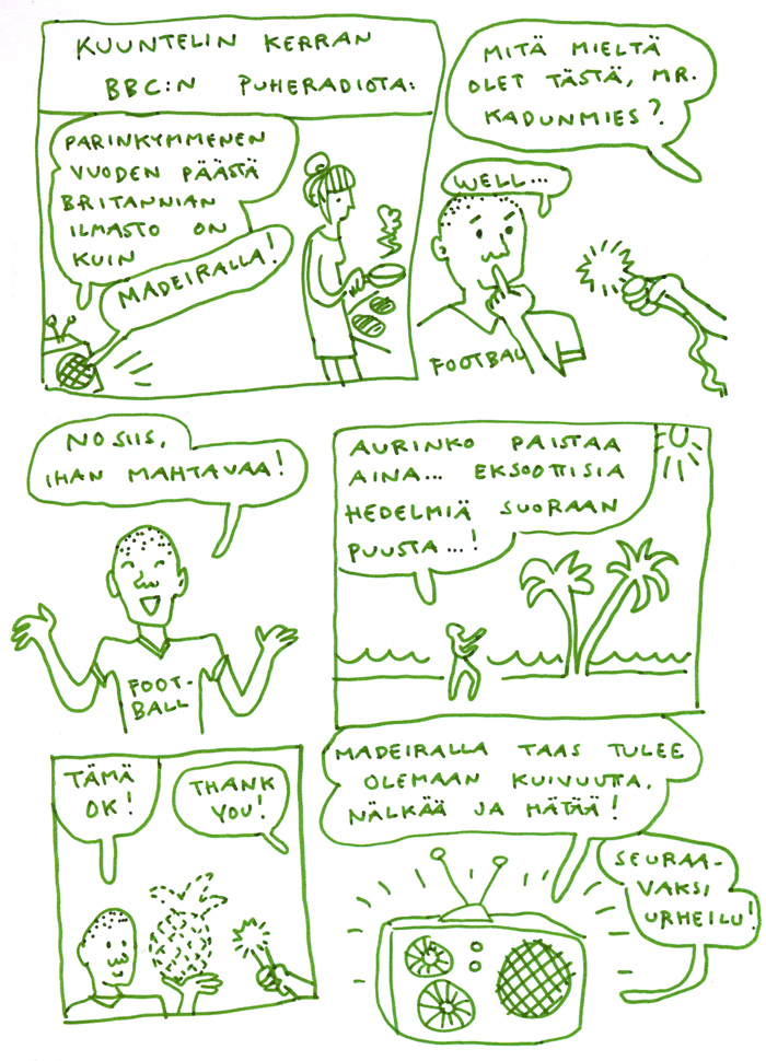 ilmastonmuutos bbc aino sutinen sarjakuva
