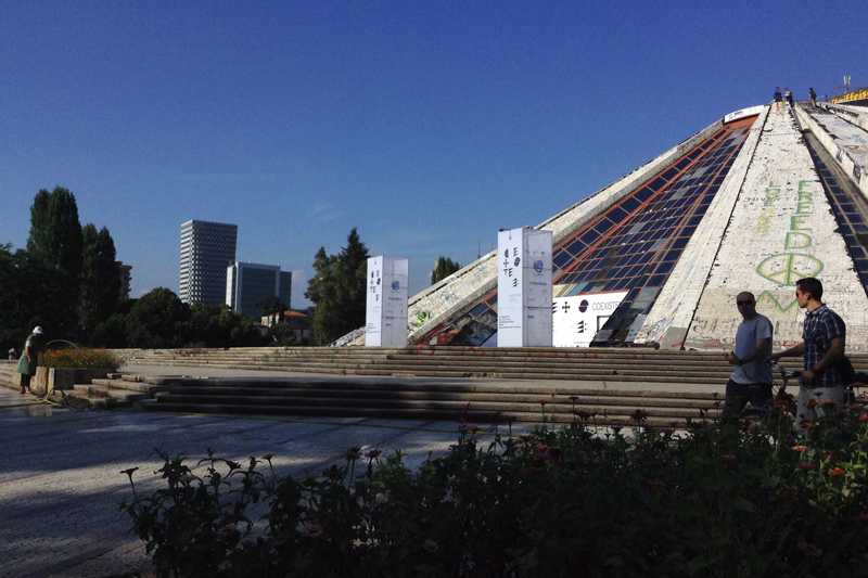 tirana pyramid bottom