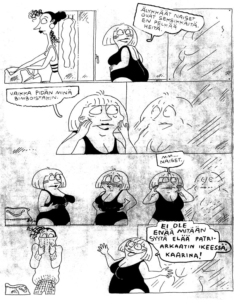 harald hirmuinen feministinen sarjakuvatoiminta aino sutinen