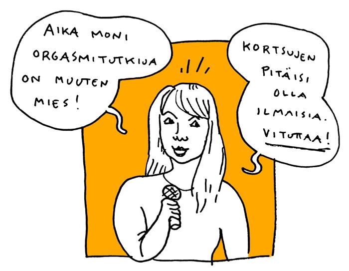 Elina Tanskanen feministinen kiroiluiltama aino sutinen