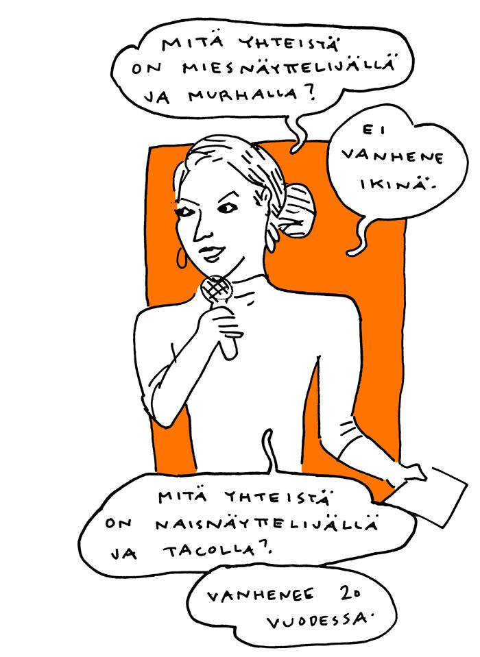Katariina Havukainen feministinen kiroiluiltama aino sutinen sarjakuva livepiirros