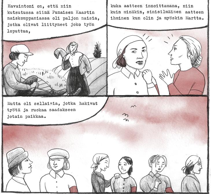Sisaret 1918 aino sutinen web sarjakuva