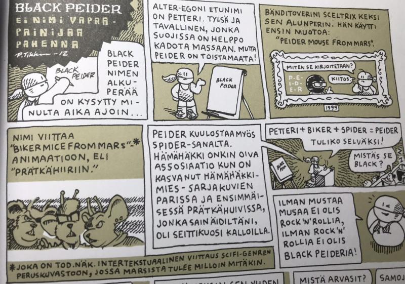 black peider ura sarjakuva
