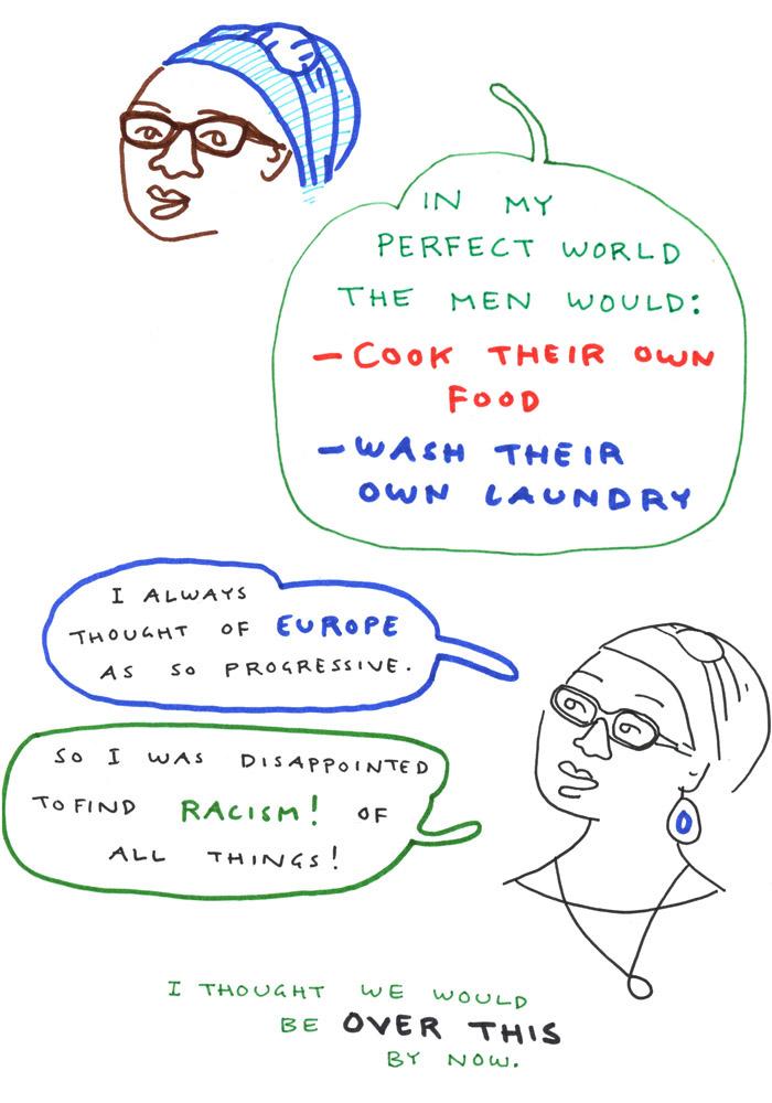Sister Namibia Mimi Mwiya Aino Sutinen sarjakuva feminismi