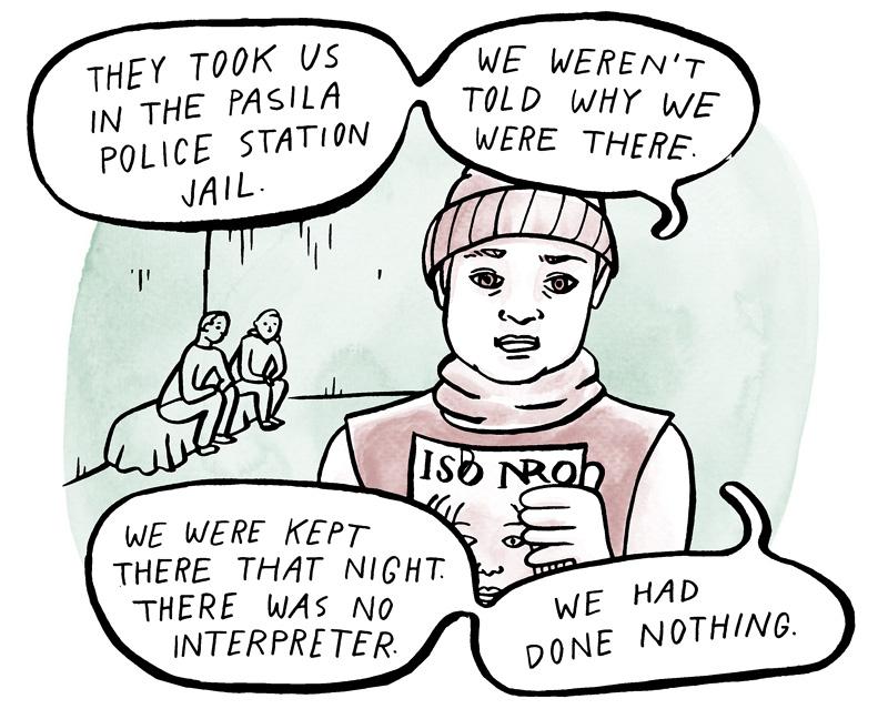 Pysäytetyt the Stopped etninen profilointi ethnic profiling research webcomic Aino Sutinen