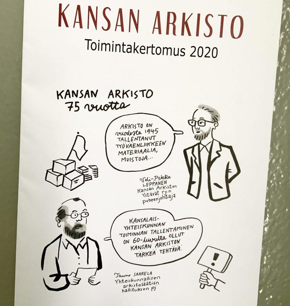 kansan-arkisto-toimintakertomus-livekuvitus-aino-sutinen